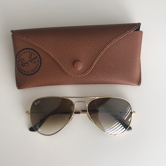 2fbdea4938 ... promo code ray ban aviators gold frame light brown gradient 2688e a47bb